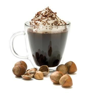 Hazelnut with Hot Coffee